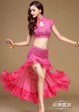 Костюм танцевальный для восточных танцев розовый