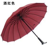 Стильный зонт трость 16 спиц Красное вино