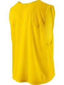 Манишка футбольная сетчатая Желтая