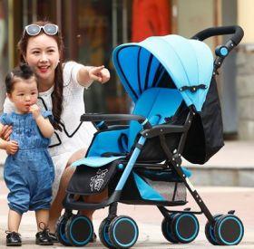 Коляска прогулочная Babytime Голубая