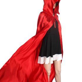 Красный карнавальный плащ с капюшоном