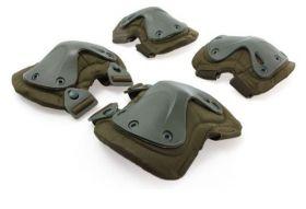 Защита тактическая (наколенники, налокотники) быстросъемная Зеленый