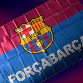 Флаг футбольный Барселона 90х150 см