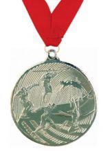 Медаль Легкая атлетика наградная с лентой 2 место 50 мм