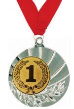 Медаль Санти наградная с лентой 1 место 45 мм