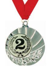 Медаль Санти наградная с лентой 2 место 45 мм