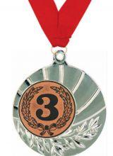 Медаль Санти наградная с лентой 3 место 45 мм