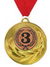 Медаль Торко наградная с лентой 3 место 50 мм