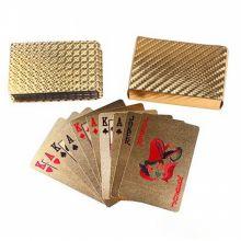 Золотые пластиковые игральные карты